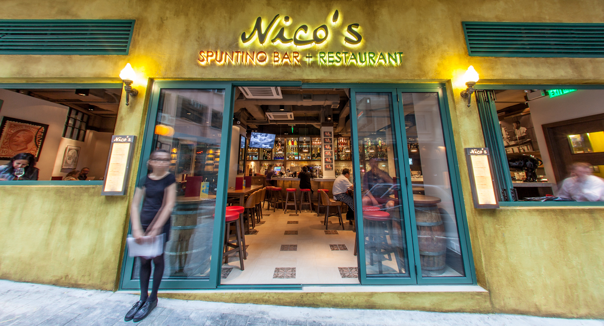 Nico's Sputino bar and restaurant Hong Kong